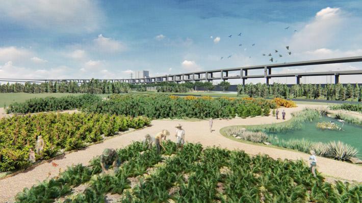 景美溪下游 新店溪匯流處設計模擬圖