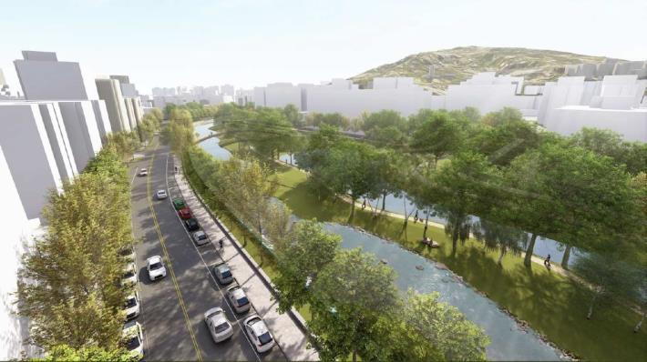 「磺港溪再造計畫」榮獲2020台灣景觀大賞「環境規劃設計類-優質獎」(願景圖)