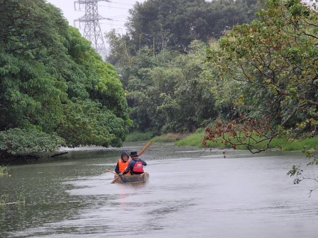 五分港還保有自然河岸生態
