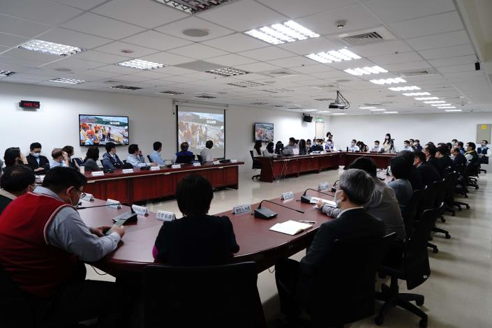 眾多廠商參與本次音圖廉政平臺成立暨統包工程招商說明會