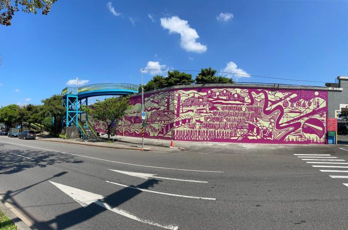 走入時光夢迴 北市基六號水門堤壁完工