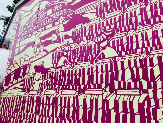 北市堤壁新風貌 運用紙雕繪本的手法來說故事
