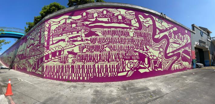 紙雕藝術家成若涵,以紙雕設計呈現松山區在地歷史