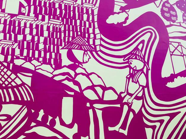 基六堤壁 以紙雕繪本的手法 呈現當地歷史