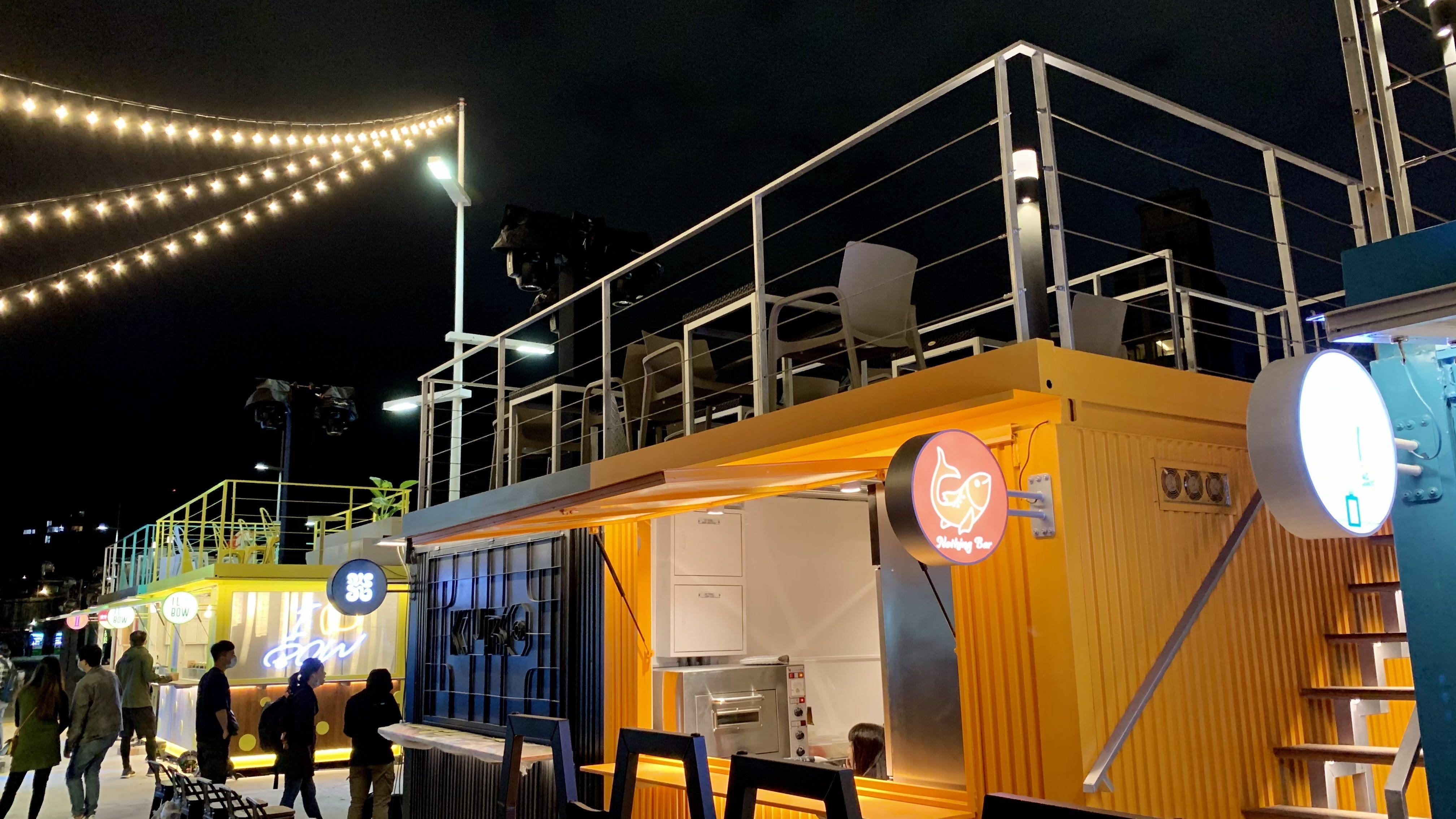 全新的大稻埕碼頭貨櫃市集已開幕