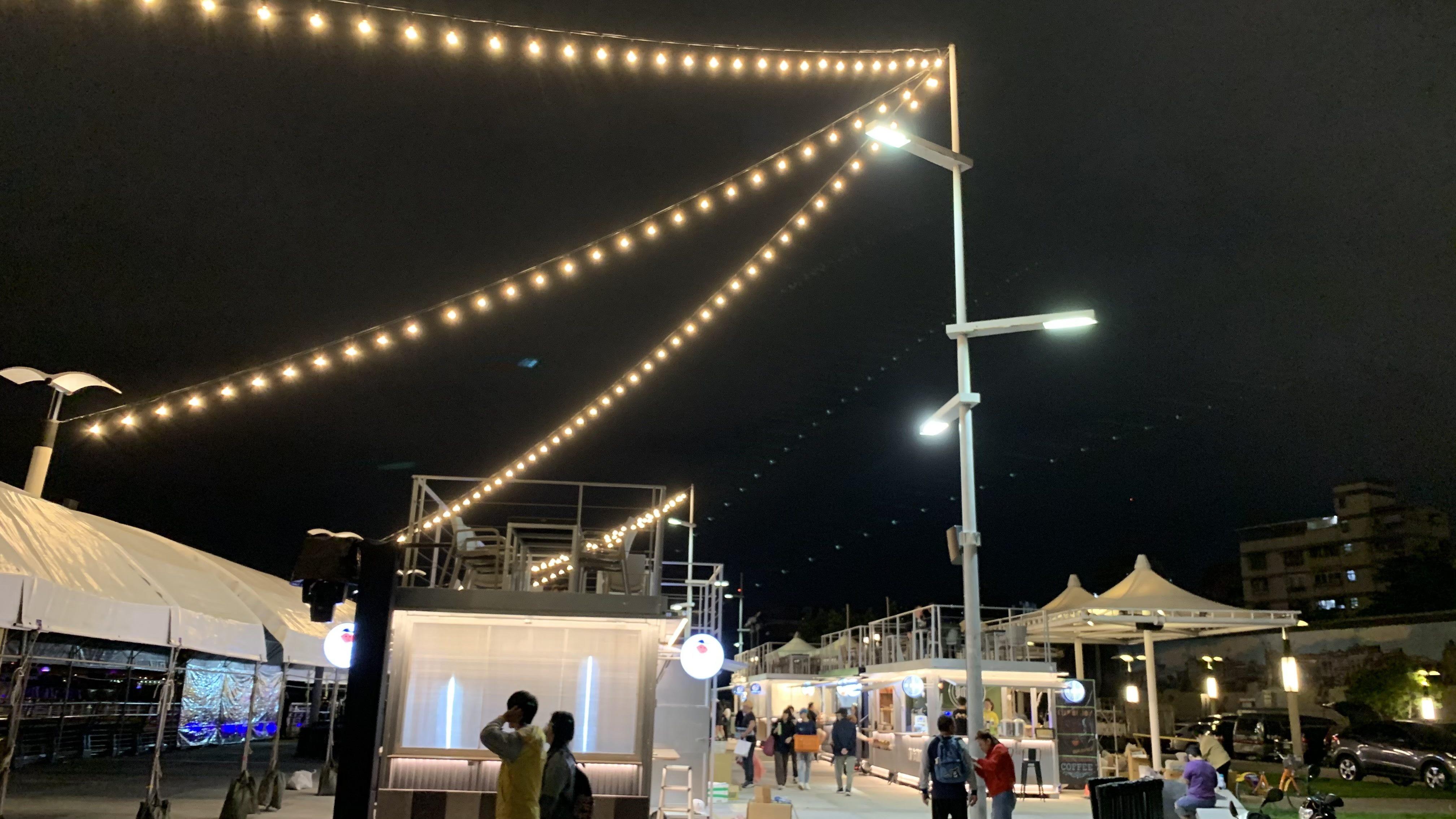 全新的大稻埕碼頭貨櫃市集 已開幕 水利處邀請民眾一起來放輕鬆享受美食