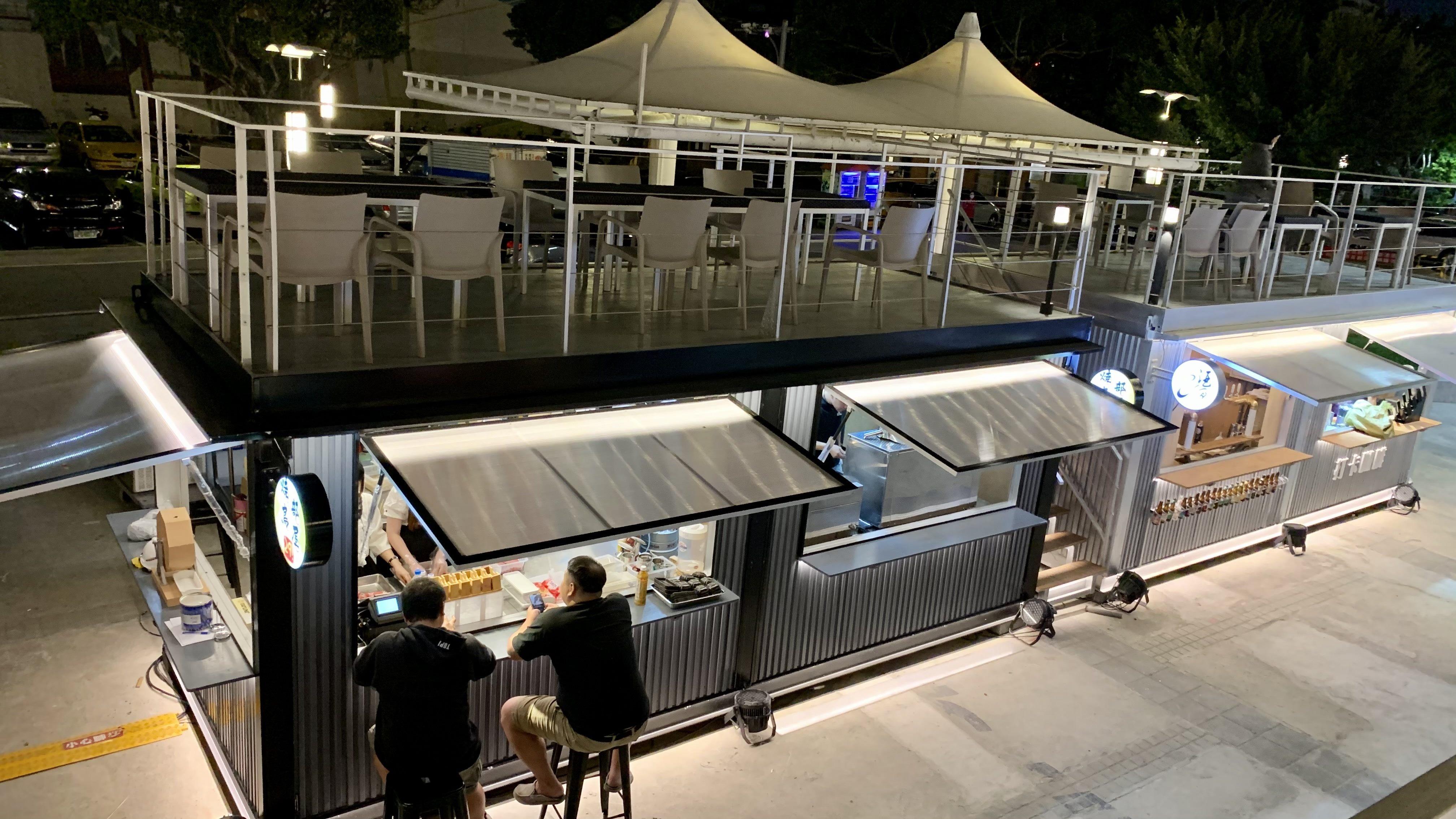 新的大稻埕碼頭貨櫃市集 已於日前開幕