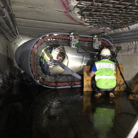 為降低施工期間的交通衝擊影響,水利處特別引進日本研發的新工法