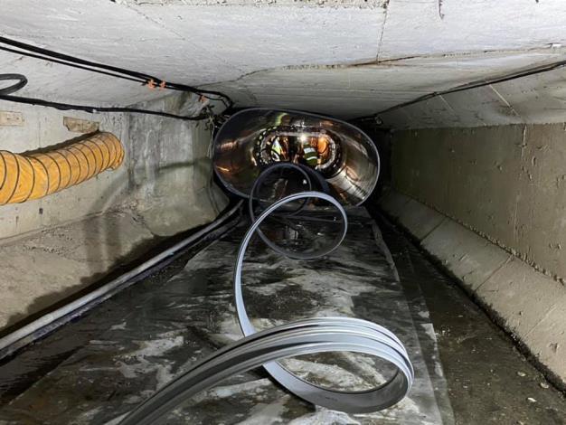 引進日本在類似案例上採用的「螺旋內襯工法」進行箱涵整修