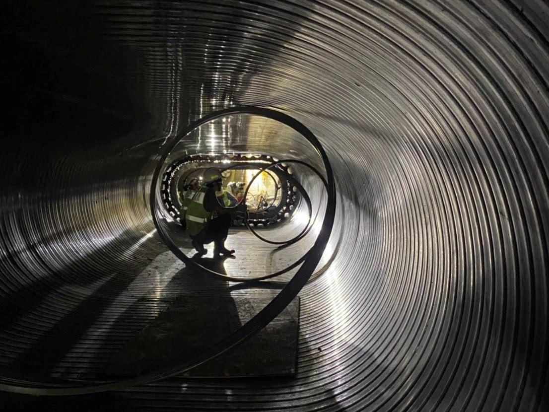 研究院路螺旋內襯工法-內襯製管 -