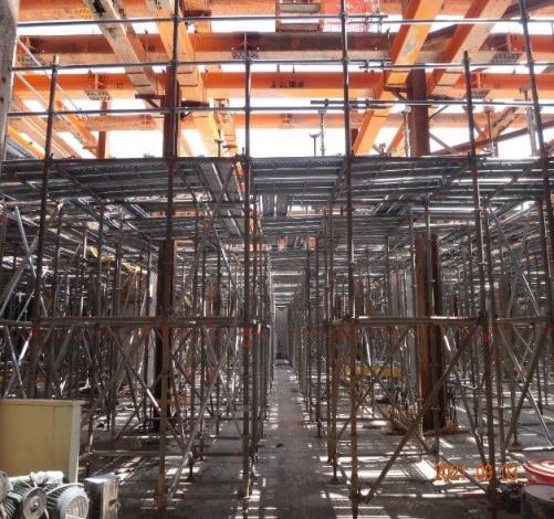 4-B2層超高模板施工架搭設