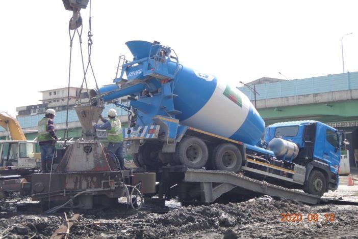 基樁混凝土澆置-918