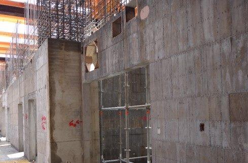 1-B2層柱牆結構施作