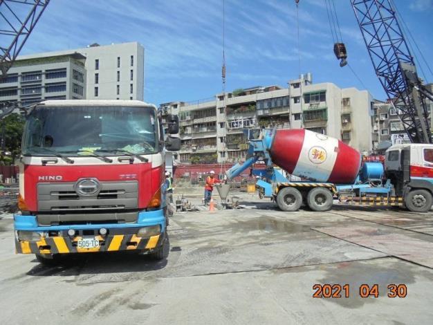 壁樁A16單元澆置混凝土-1,110.04