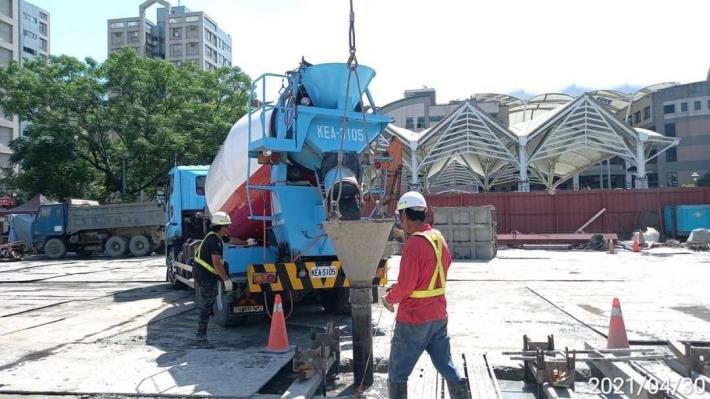 壁樁A16單元澆置混凝土-2,110.04