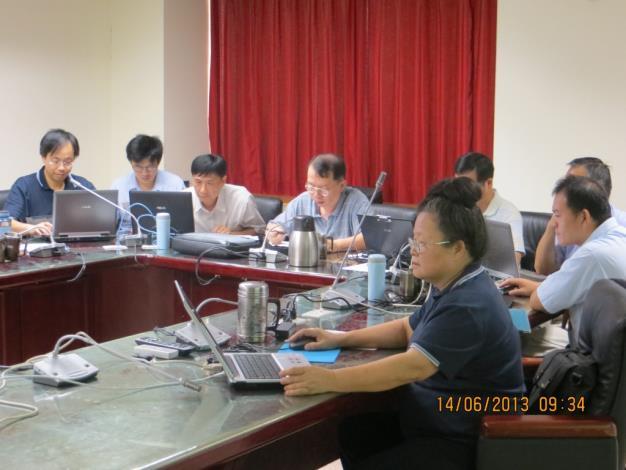 102年廉政會報會議-感謝秘書室劉主任及資訊室,協助並支援本室圓滿使用電子化方式進行會議