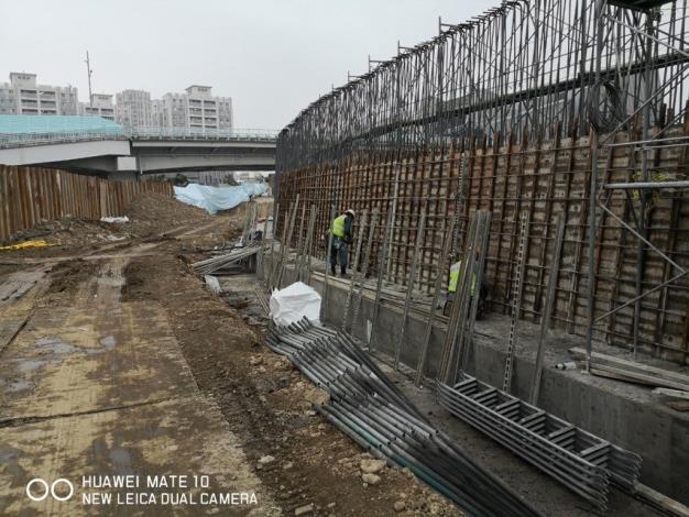 磺溪堤防-鋼筋組立完成