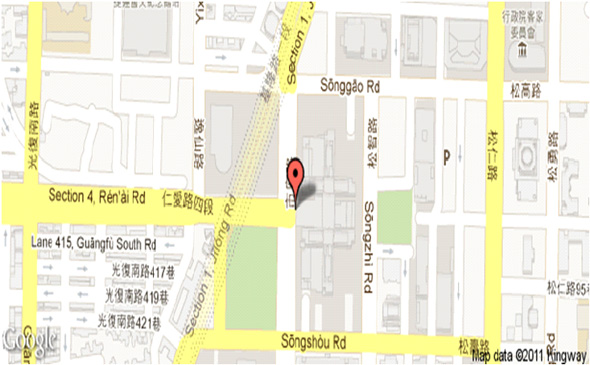 Location of Department of Land, Taipei City Government