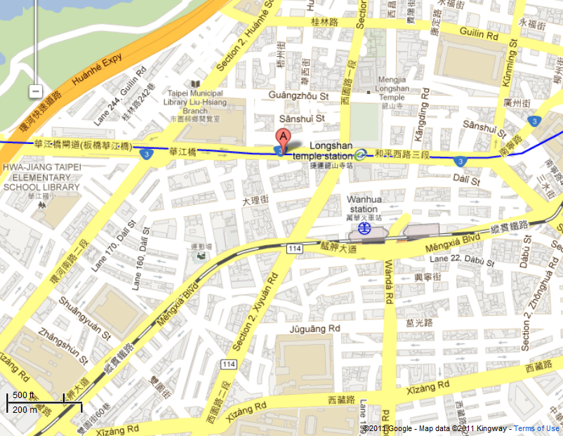 Location of Jiancheng Land Office, Taipei City Government