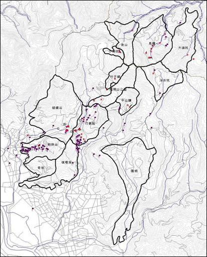 各溫泉地下水補注區分布圖