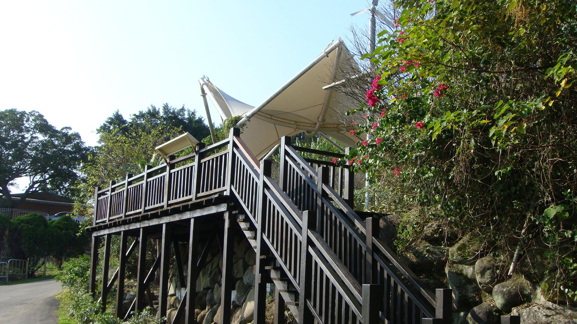 劍南蝶園薄膜涼亭觀景台
