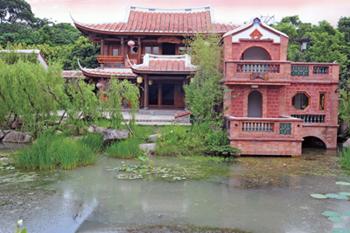 Yu Chain Lou (Pavilion) 10.Sueh Yueh Hall 11.Ying Yueh Pond