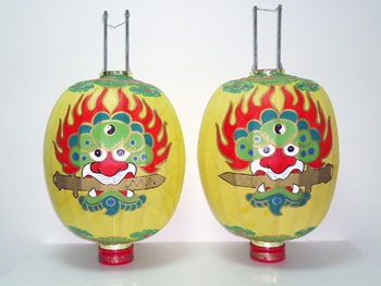 Sword Lions Lanterns