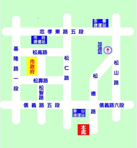 臺北市政府工務局大地工程處交通位置圖