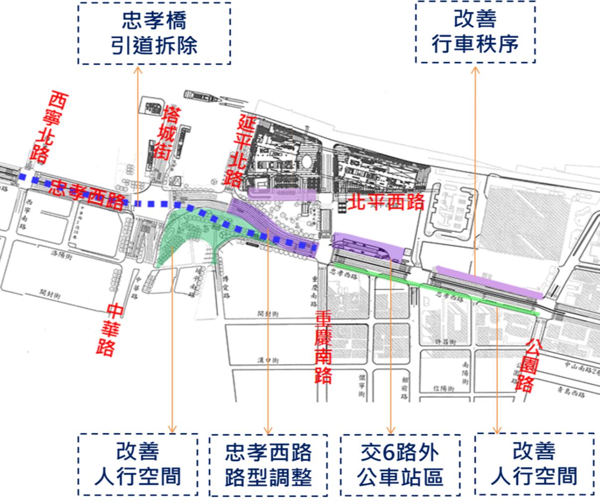 圖2 西區門戶計畫交通配套規劃構想圖