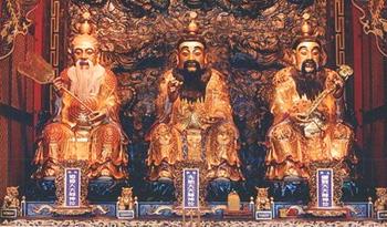 道教總廟三清宮內殿之三清道祖聖像