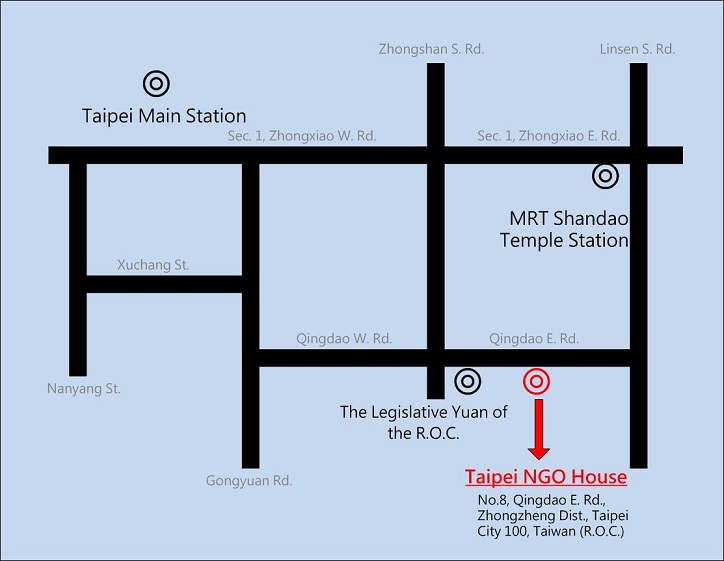 The Map of Taipei NGO House