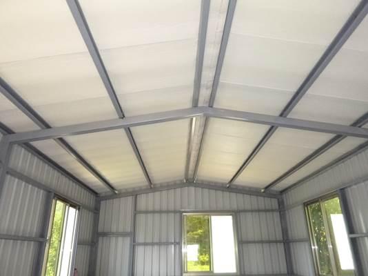 C型鋼及鍍鋅鋼板搭建