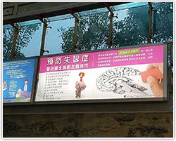 龍山寺地下街廣告燈箱照片