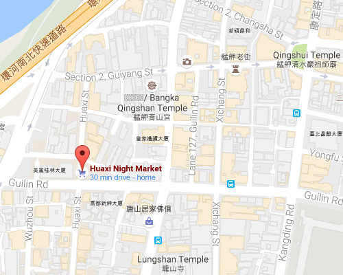 open MAP-Huaxi Street Tourist Night Market