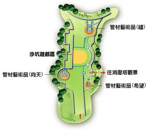 管材雕塑區域圖
