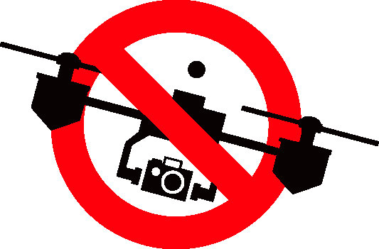 No drones are allowed without prior permission