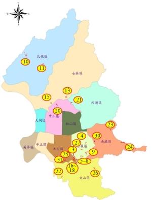 24處聚落分佈圖