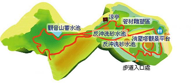 生態景觀步道地圖
