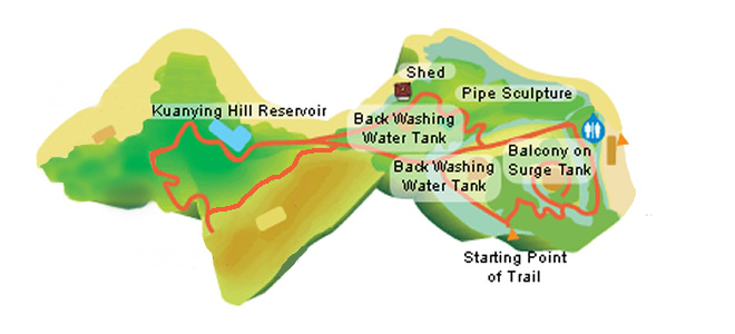 kuanying hill hiking area map