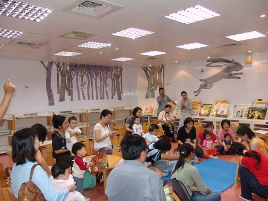 民國95年10月28日Bookstart閱讀起步走嬰幼兒說故事活動