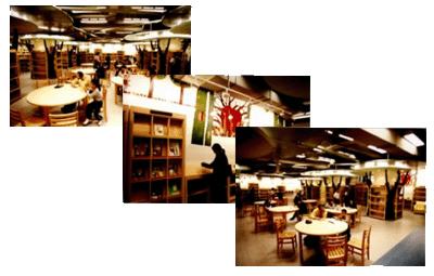 一般閱覽區34席,閱覽外文圖書、工具書