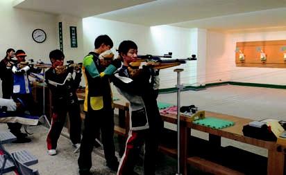 Shooting Training in the Wanfang High School