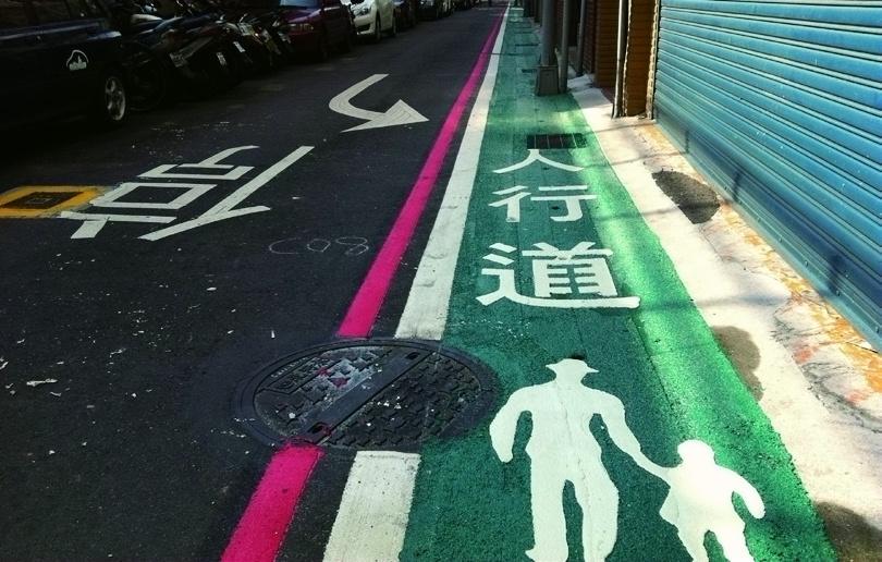 Marking sidewalks