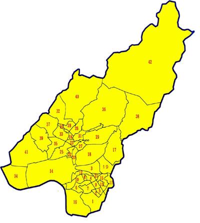 北投行政區里界圖
