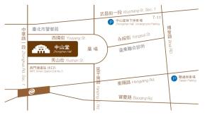 臺北市中山堂及周邊停車場地圖