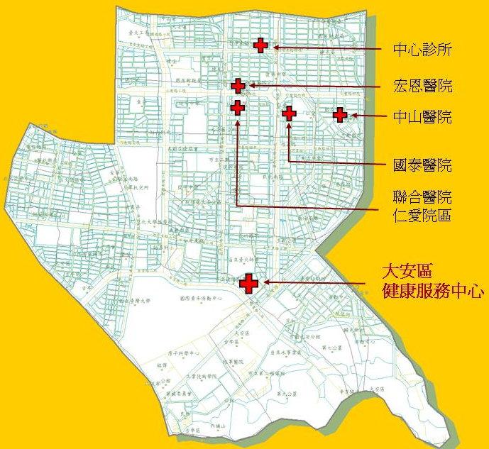 大安區醫療院所位置圖