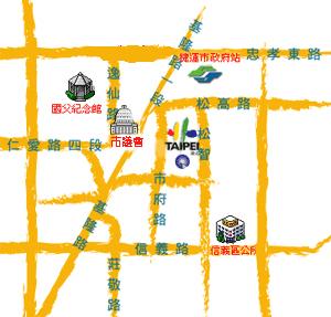 臺北市政府市政大樓位置圖