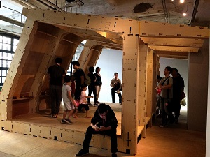 "Visitors are invited to accomplish Taiwan's first ""Wikihouse"" with concerted efforts, which embodies the spirit of collaboration highlighted by the 2015 Digital Art Festival Taipei."