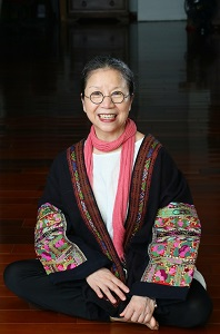 . Lin Lee-chen, artistic director and choreographer of Legend Lin Dance Theatre, receives the 2015 Taipei Culture Award. (Photo courtesy of Jimmy Lin)