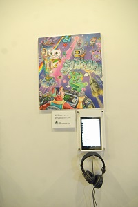 """""""Log In"""" in the Dream exhibit by the Taichung City-based Petit Deer Cinema. (Photo by Bill Cheng)"""
